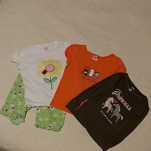 4 piece Cute Baby Girl Bundle Halloween size 3T